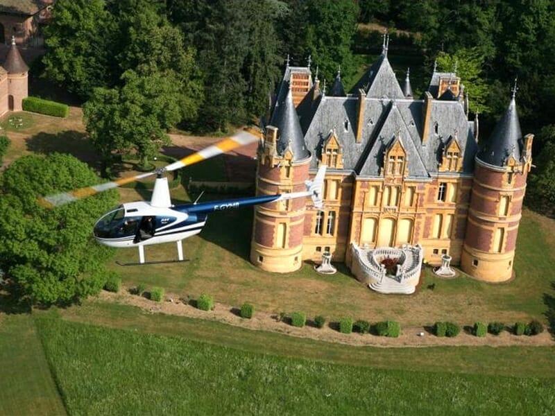 Baptême en Hélicoptère près de Lyon à Frontenas