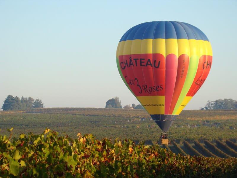 Vol en Montgolfière près de Bordeaux - Tour au-dessus des Vignobles