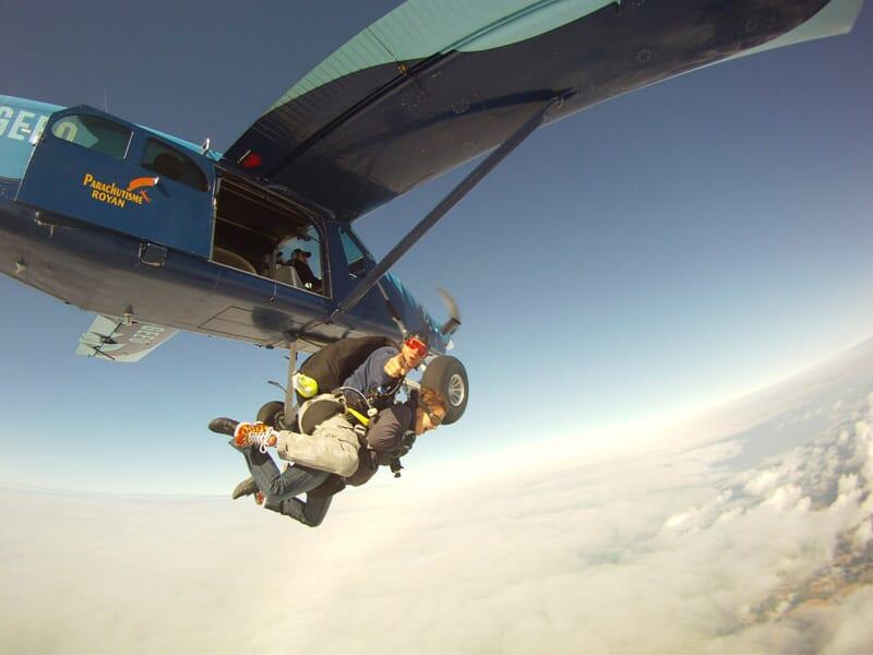 saut en parachute royan 17