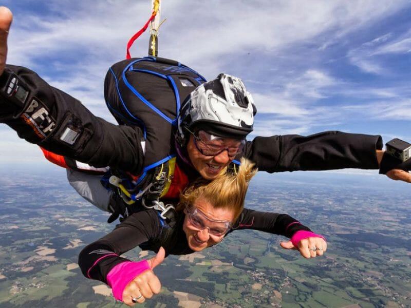 saut en parachute 39000 m