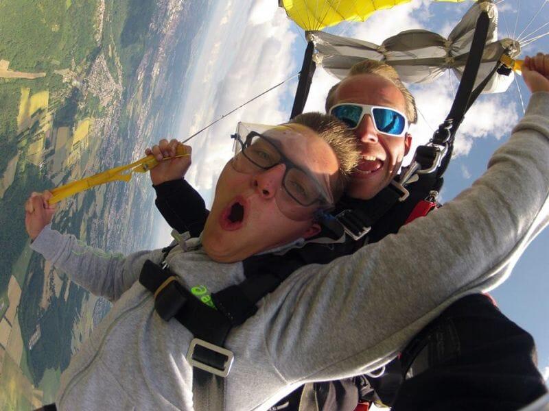 Saut en Parachute en Tandem près de Metz à Vaudrevange