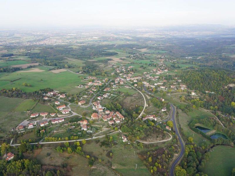 Vol en Montgolfière près de Saint-Etienne - Survol de la Plaine du Forez