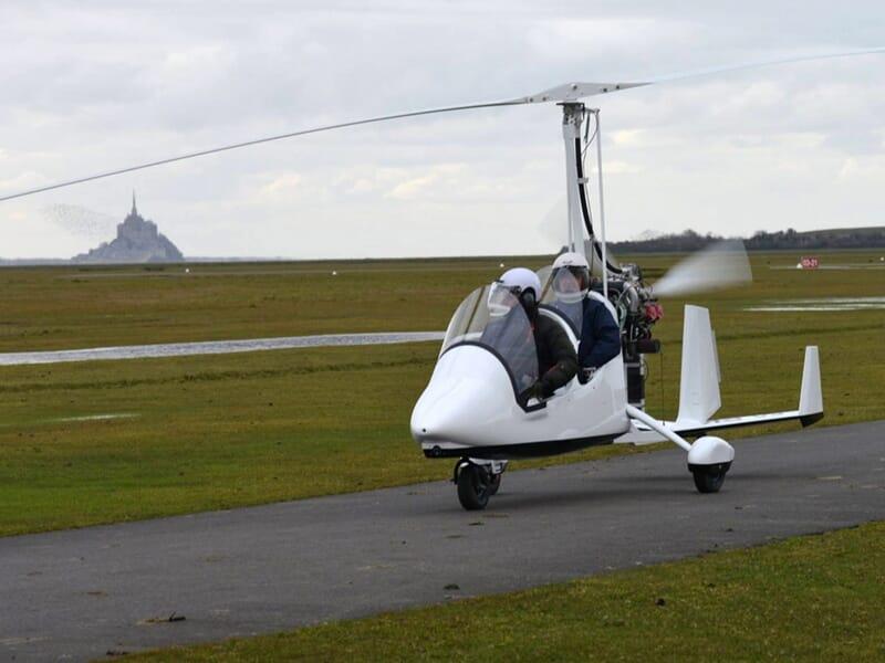 Vol ULM Autogyre - Survol du Mont-Saint-Michel