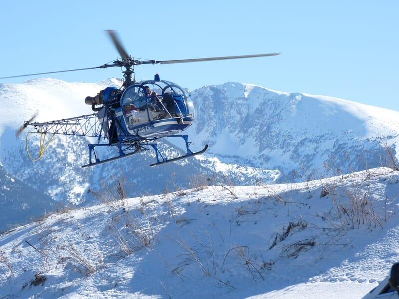 Baptême de l'Air en Hélicoptère des Neiges près de Font-Romeu - La Quillane