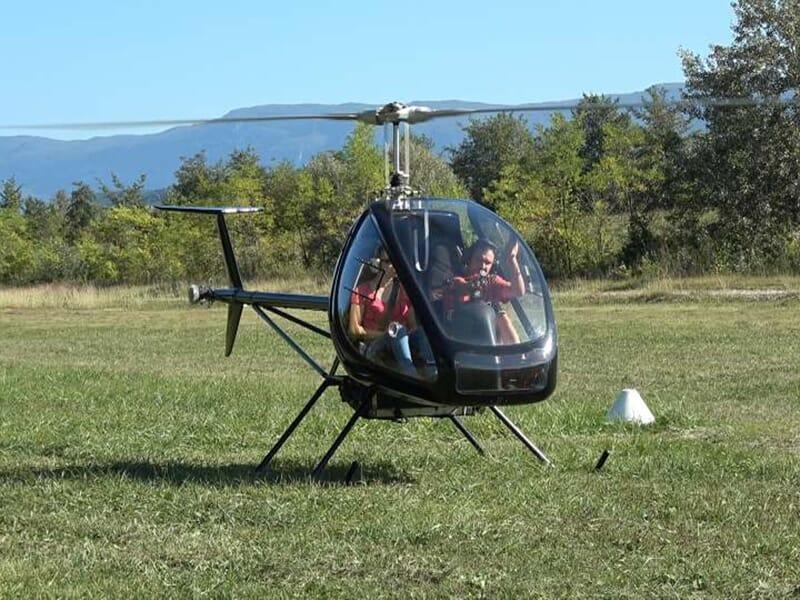 Baptême de l'Air en Hélicoptère près de Chambéry à Lavours