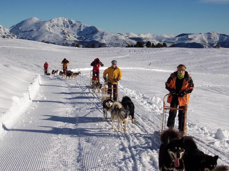Séjour chiens de traineaux et raquettes à neige dans les Pyrénées