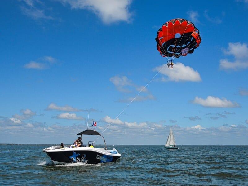 Parachute Ascensionnel dans le Bassin d'Arcachon