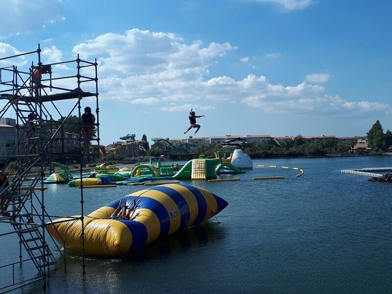 Blob Jump près de Montpellier - Sensations à Aigues-Mortes