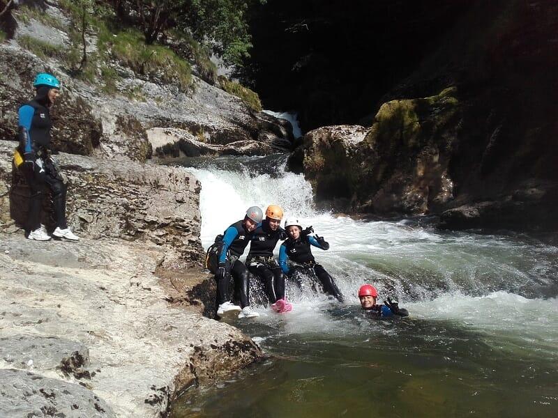 Canyoning dans le Jura - Canyon de la Saine