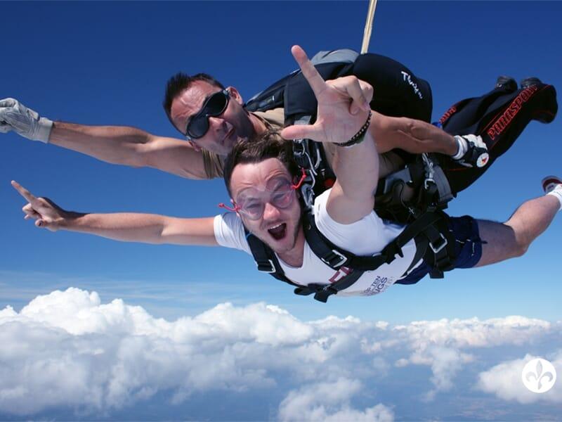 Saut en Parachute en Tandem près d'Alençon - Mortagne-au-Perche