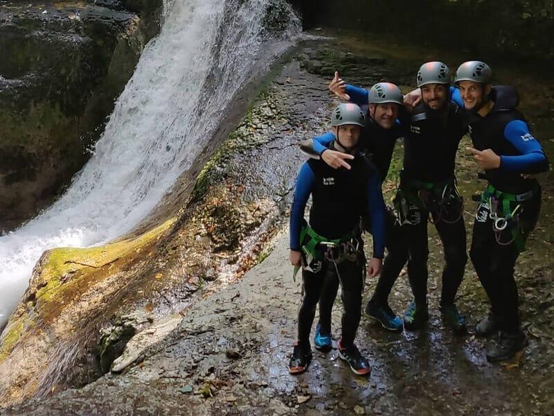 Canyoning au Canyon de Malvaux dans le Jura - Foncine-le-Bas