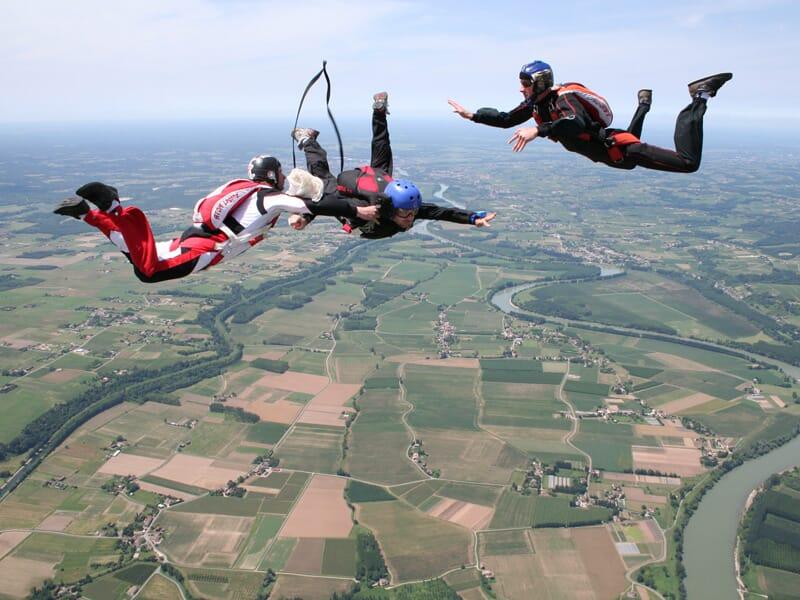 Saut d'Initiation au Parachute près de Bordeaux à La Réole