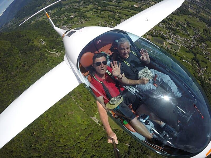 Vol en Planeur - Survol d'Albertville et sa région