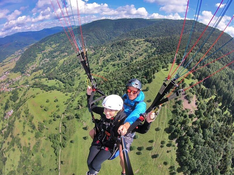 Séance de découverte du parapente à Gérardmer dans les Vosges
